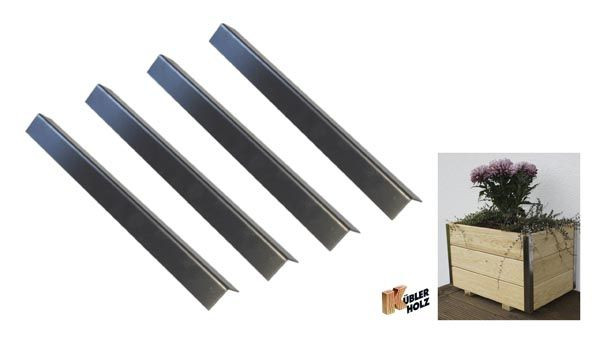Nerezové rohové lišty 35,5 cm