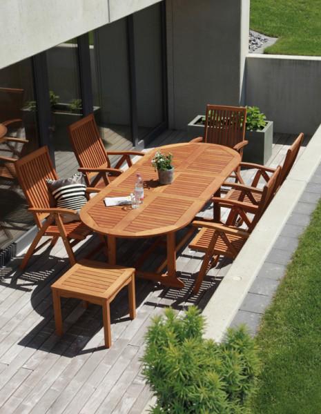 Marsala - sestava akátového zahradního nábytku