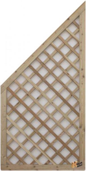 Mřížka série VARIO, sib. modřín diagonalní 90/180/90 zkosená
