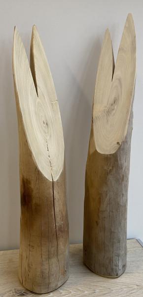 """Dekorace z akátového dřeva """"ZAJÍC"""" přírodní"""