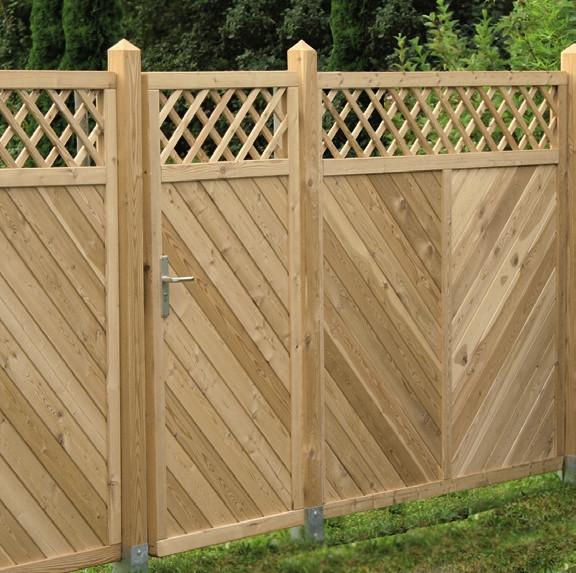 Hliníková brána, modřín 300502