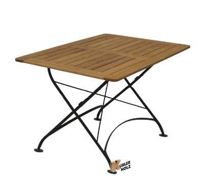 Akátový stůl Tosca s kovovou konstrukcí, 80x120