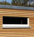 Plastové okno pro zahradní domek KUBUS 95/40 cm