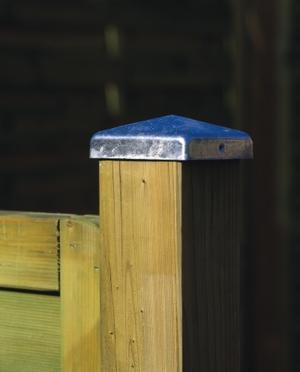 Zakončení sloupků - kovová pyramidka 7 cm