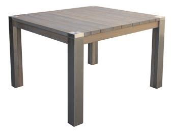 Stůl SERRY, nerezová ocel/ akátové dřevo
