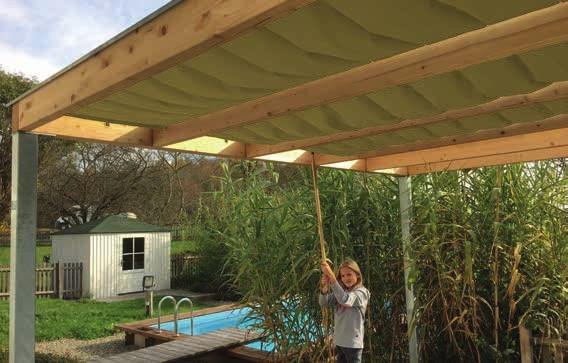 KUBUS stínící střecha 300x400