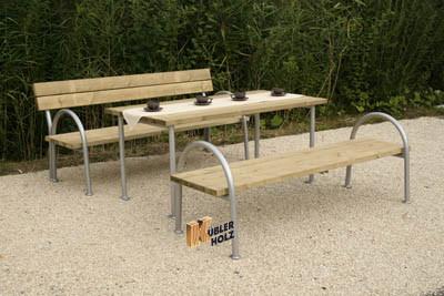 Parková lavice s opěrkou 2,00 m - akát