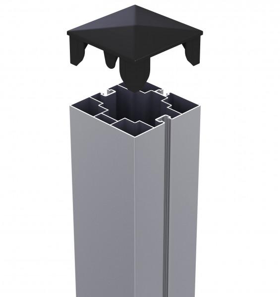 Hliníkový sloupek 75/75 mm s krytkou