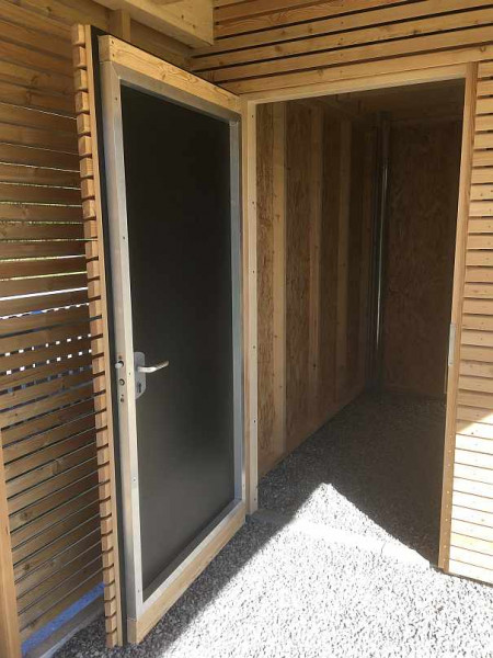 KUBUS jednokřídlé dveře s hliníkovým jádrem 90/200 cm