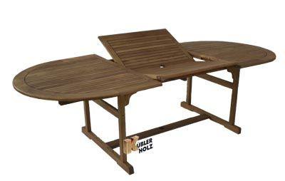 Stůl Capri, ovál, rozkládací, 110x180/260