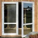 Plastové dveře dvoukřídlé KUBUS 199/205 cm