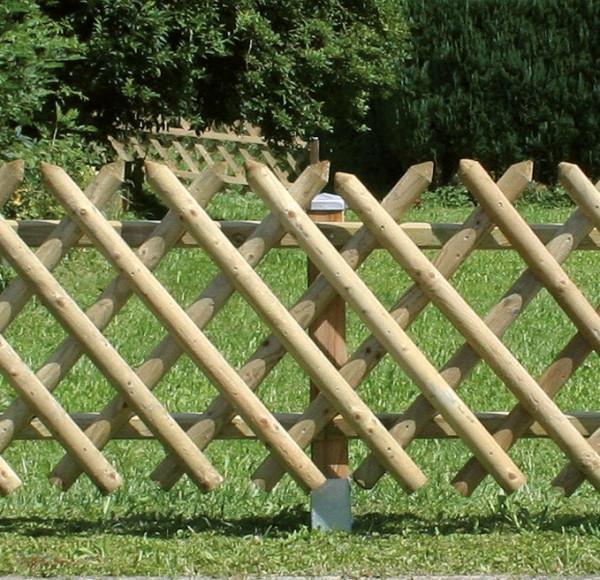 Myslivecký plot z tlakově impregnovaného jehličnatého dřeva