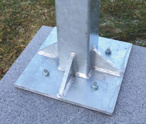 Ocelový sloupek zinkovaný KUBUS 10/10 cm, 3,50 m