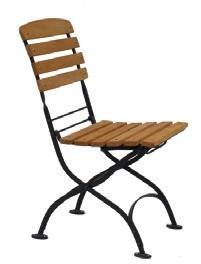 Židle Tosca bez područek, akát / kov