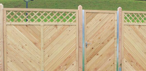 Hliníková brána, modřín 300503