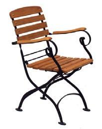 Židle Tosca s područkami, akát/kov