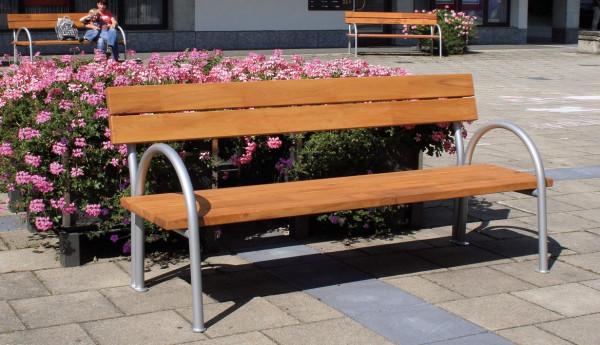 Parková lavice s opěrkou 2,00 m - modřín
