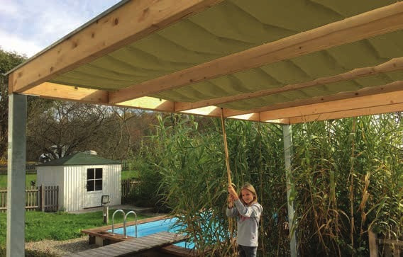 KUBUS stínící střecha 300x500