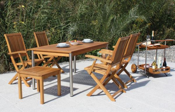 Bari sestava akátového zahradního nábytku + stůl Cesena